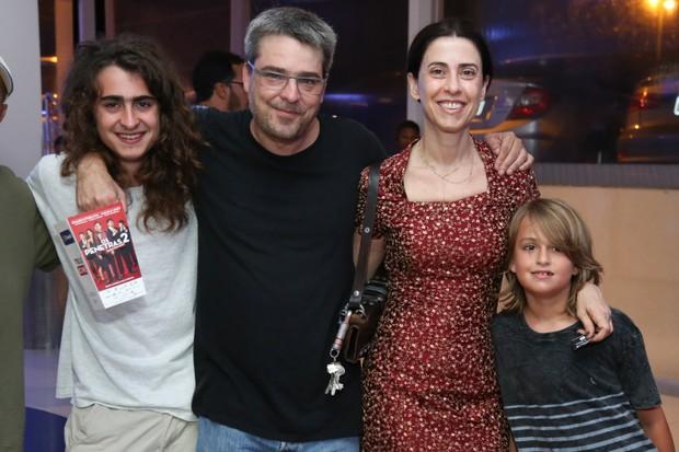 Fernanda Torres com o marido e os filhos (Foto: Roberto Filho/Brazil News)