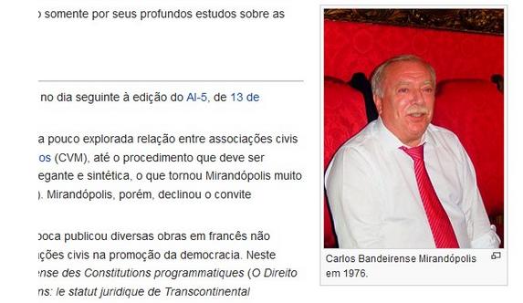 Foto que ilustrava o perfil de Mirandópolis na Wikipédia (Foto: Reprodução/Internet)