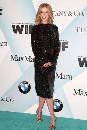 Nicole Kidman em premiação em Los Angeles, nos Estados Unidos (Foto: Frederick M. Brown/ Getty Images/ AFP)