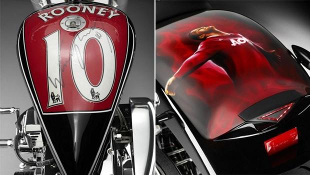 Detalhes da moto de Wayne Rooney (Foto: Divulgação)