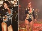 Sabrina Sato repete body usado por Thábata Mendes em show; compare