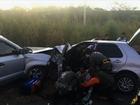 Acidente entre dois carros mata três pessoas em Pacajus, no Ceará