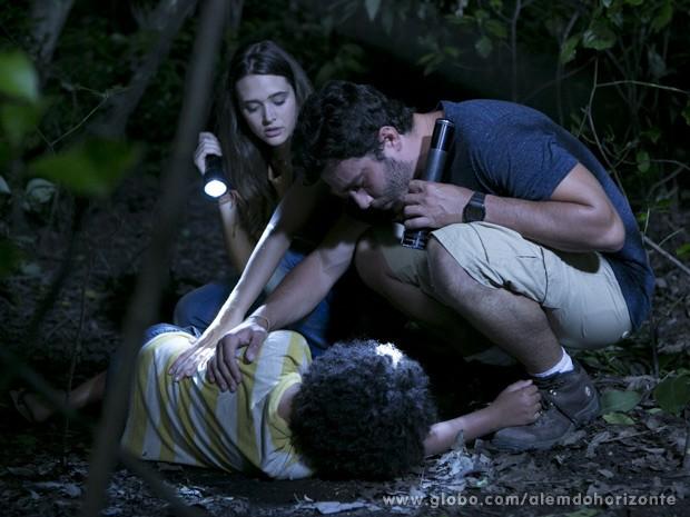Lili e William encontram Nilson (Foto: Além do Horizonte/TV Globo)