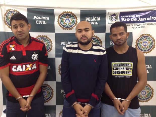 Trio foi preso em um apartamento de luxo em Ipanema, na Zona Sul do Rio (Foto: Divulgação/ Polícia Civil)