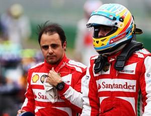 Massa Alonso treino GP da Austrália (Foto: Getty Images)