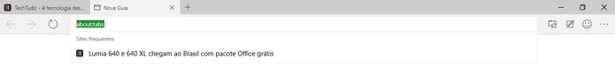 Spartan possui barra de navegação bastante semelhante com a do Google Chrome (Foto: Reprodução/Elson de Souza)