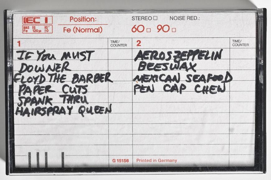 Fita demo gravada em 1988  um dos destaques da mostra, com 10 faixas raras (Foto: Divulgao/Museum of Pop Culture)
