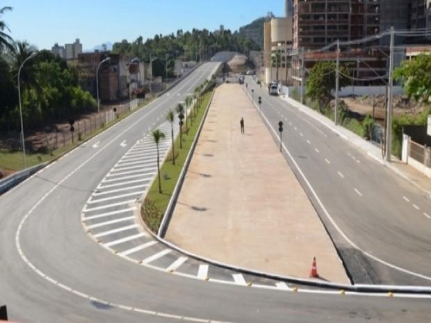 Viaduto será inaugurado neste sábado (26) (Foto: Divulgação/ Prefeitura de Vila Velha)