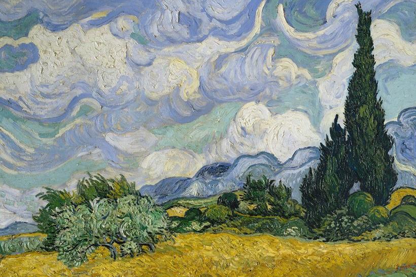 "'Campo de Trigo com Cipestres"", de Vincent Van Gogh' (Foto: Metropolitan Museum of Art via Wikimedia)"