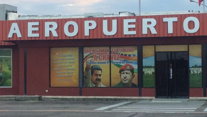 Aeroporto Barinas Hugo Chávez Venezuela Grêmio (Foto: Eduardo Moura/GloboEsporte.com)