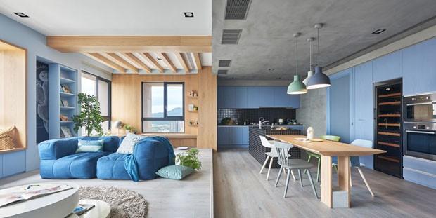 Apartamento claro e colorido  (Foto: Hey!Cheese / divulgação)