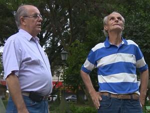 Moradores de Passo Fundo acreditam que viam óvnis (Foto: Reprodução/RBS TV)
