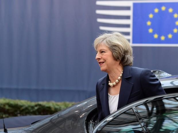 A primeira-ministra Theresa May garante que o Reino Unido não vai mudar de ideia: 'Brexit significa Brexit' (Foto: Emmanuel Dunand/AFP)