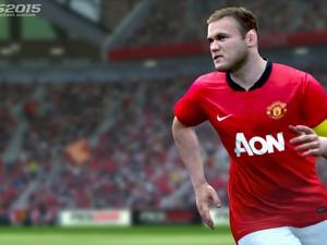 Craque inglês Wayne Rooney em cena do novo 'Pro Evolution Soccer 2015' (Foto: Divulgação/Konami)