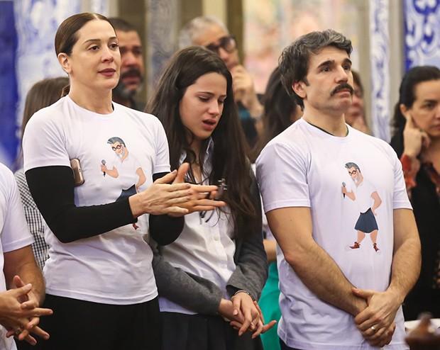 Claudia Raia, Jarbas Homem de Mello e a filha, Sophia (Foto: Manuela Scarpa/Brazil News)