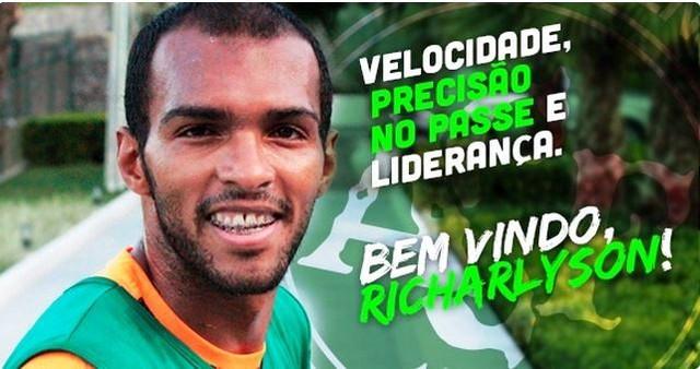 Richarlyson Chapecoense bem-vindo (Foto: Divulgação/Chapecoense)