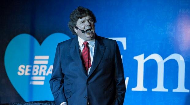 Alberto Saraiva, presidente do Habib's, durante palestra na Feira do Empreendedor SP (Foto: Divulgação/SebraeSP)