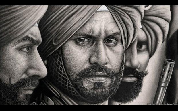 Singh Tattal participa de um grupo de ajuda e sua família veio da Índia (Foto: Raj Singh Tattal/The PenTacular Artist)