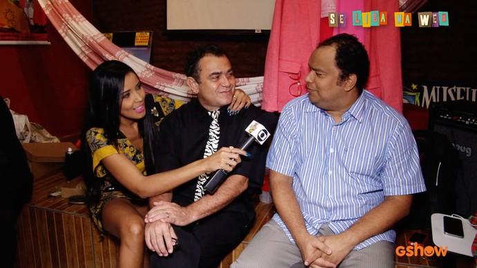 Niara invade os bastidores da gravação de #Chico85  (Foto: Produção/Se Liga VM )