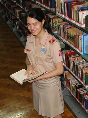 Raíssa Simonetti de Oliveira estuda no Colégio Militar de Belo Horizonte (Foto: Alex Araújo/G1)