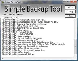 Simples Backup Tool, backup