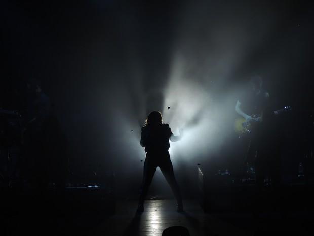 Primeira música cantada foi o hit Heart Attack (Foto: Gabriel Galli / G1)