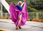 Claudia Raia grava primeiras cenas como Samantha em Alto Astral, uma vidente charlatã (Foto: Raphael Dias/ TV Globo)