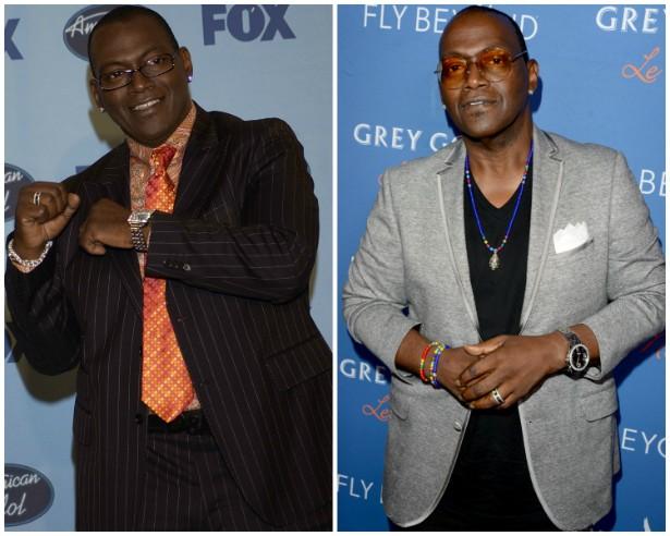 O cantor e jurado Randy Jackson em maio de 2004 e em julho de 2014. (Foto: Getty Images)