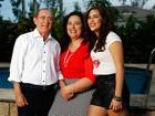 Com a mulher, Lilian, e a filha, Lívian, Renato Aragão mostra o clima de cumplicidade que une a família