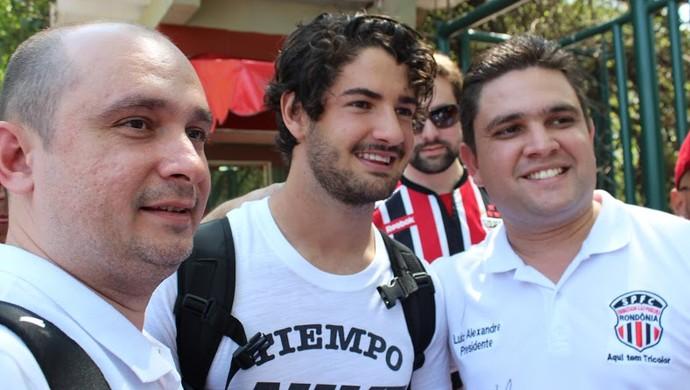 Alexandre Pato recebeu integrantes da Embaixada São-Paulina de Rondônia (Foto: Luiz Alexandre/Arquivo Pessoal)