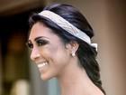 Vestida de noiva, Amanda Djehdian fala sobre sonho de se casar