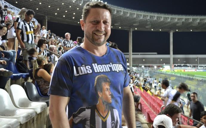 Pai do atacante Luís Henrique, Evilmar Tauffner (Foto: João Brito/GloboEsporte.com)