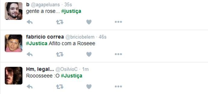 Telespectadores comentam a trama de Rose (Foto: TV Globo)