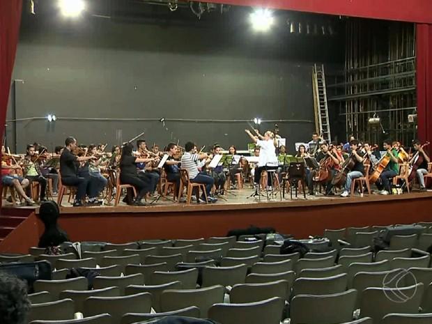 Orquestra Sinfônica Festival Pró-Música (Foto: Reprodução/TV Integração)