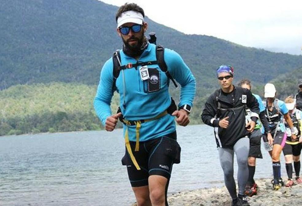 Primeira prova internacional foi logo os 100km da ultra trail run El Cruce, na Patagônia (Foto: Arquivo pessoal)