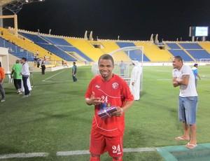 Nadson atuando pelo Al-Shamal (Foto: Divulgação/ twitter do jogador)