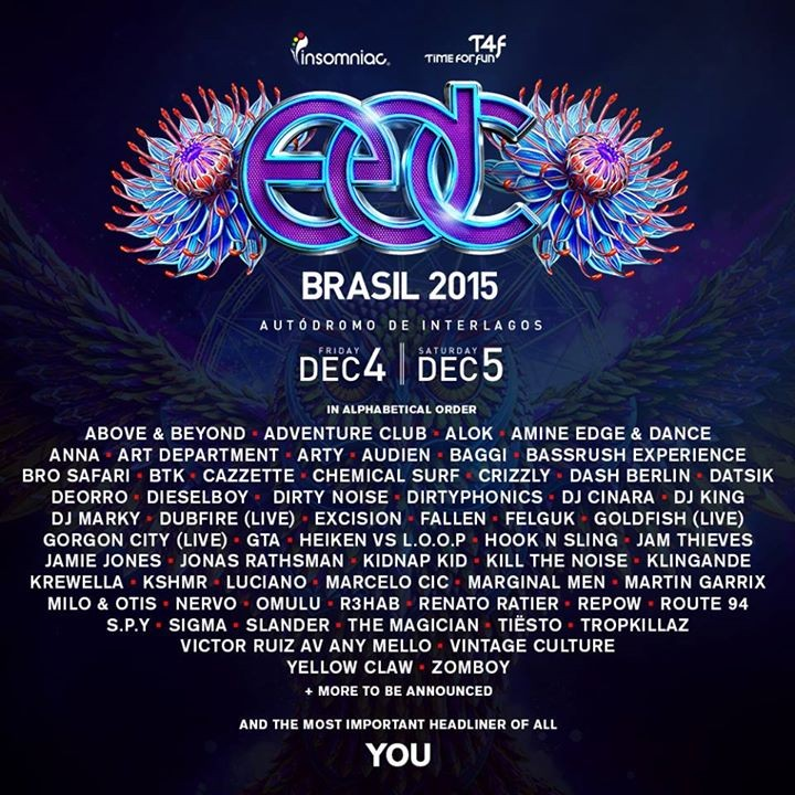 EDC line-up (Foto: Divulgao)