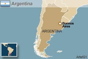 mapa argentina (Foto: Arte/G1)