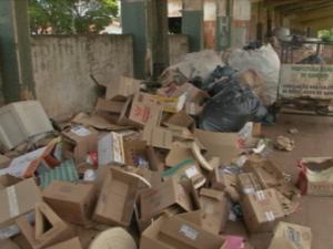 Perito ambiental ressalta que lixo não pode ficar acumulado (Foto: Reprodução/TVTEM)