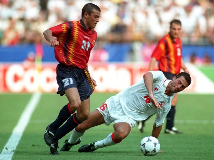 Luis Enrique Espanha Copa do Mundo 1994 (Foto: Getty Images)
