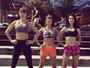 Letícia Birkheuer, Pâmela Tomé e Marina Moschen exibem barriguinhas