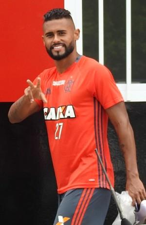 Kayke vive seus últimos no Ninho do Urubu, Flamengo (Foto: Fred Gomes/GloboEsporte.com)
