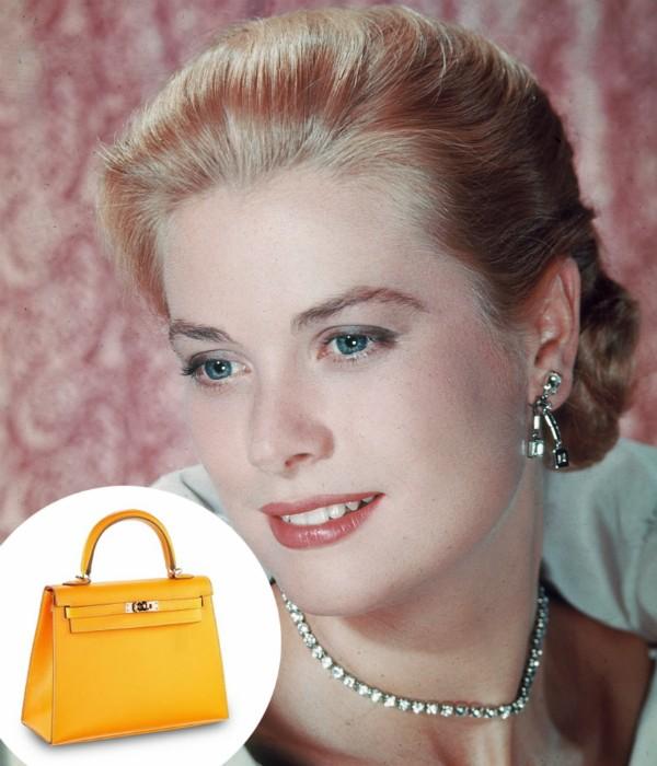 Grace Kelly usou a bolsa para esconder a barriga de grávida (Foto: Getty Images/ Divulgação)