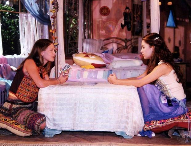 Sandy com Fernanda Rodrigues na novela Estrela-Guia (Foto: CEDOC)