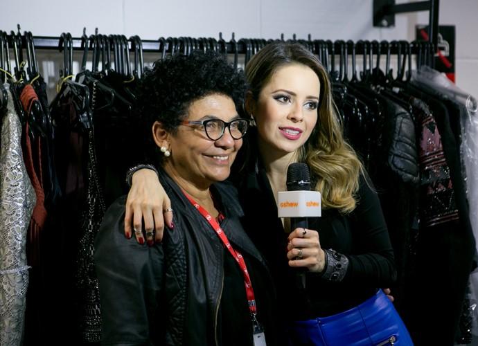 Sandy e Mara falam sobre os figurinos da jurada no SuperStar (Foto: Isabella Pinheiro/ Gshow)