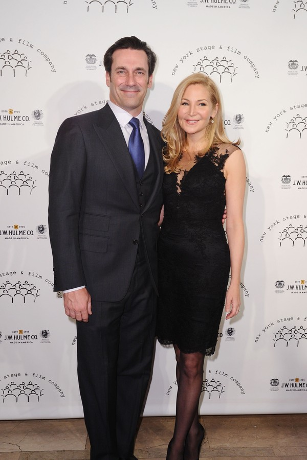 O ator Jon Hamm e a atriz Jennifer Westfeldt  (Foto: Getty Images)