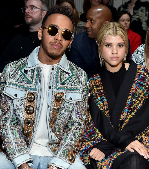 O piloto Lewis Hamilton e a modelo Sofia Richie (Foto: Getty Images)