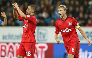 Sidney Sam comemoração Bayer Leverkusen contra Hoffenheim (Foto: AFP)