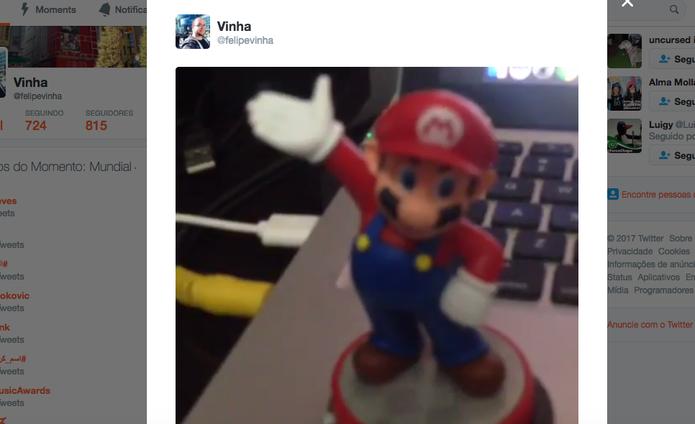 Resutado do compartilhamento no Twitter do Vine Camera (Foto: Reprodução/Felipe Vinha)