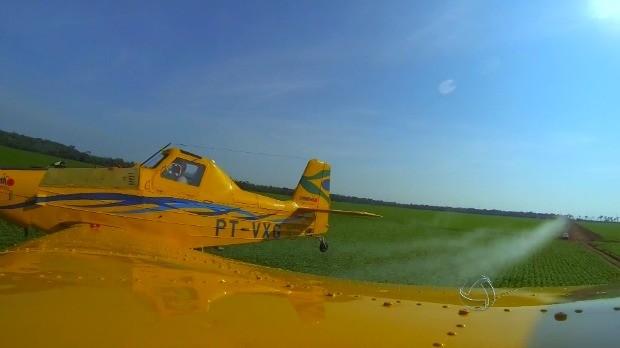 Benefícios da pulverização aérea levam produtores rurais de MT a investirem em aeronaves  (Foto: Reprodução/TVCA)